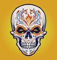 sugar skull dia de los muertos tattoo vector image vector image