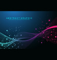 technology abstract background with connected vector image