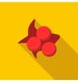 Three balls with paint spot icon flat style vector image vector image