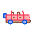 travel car icon outline vector image vector image