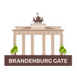 travel to germany brandenburg gate vector image vector image