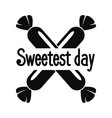 two bonbon sweet day logo simple style vector image vector image