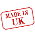 uk - made in red vintage isolated label vector image vector image