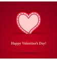 Valentine day heart sticker vector image vector image