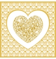 Valentines day card with heart vector image vector image