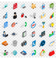 web mobile icons set isometric style vector image vector image