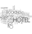 what s the best way to book your hotel in vector image vector image