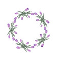 wreath five bouquet with tulips vector image vector image