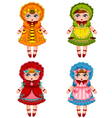 dolls collection vector image