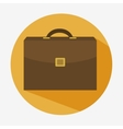 portfolio briefcase business icon vector image