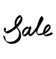 sale text postcard hand lettering ink vector image
