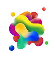 abstract modern flowing fluid shape graphic vector image