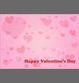 abstract soft pink hearts for valentines day vector image