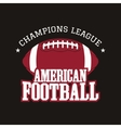 american football champions league badge logo vector image vector image