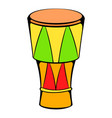 atabaque musical instrument icon cartoon vector image vector image
