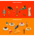 Australian Touristic Attractions 2 Isometric vector image vector image