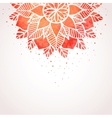 Background with watercolor red lace pattern vector image vector image