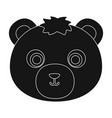 bear muzzle icon in black style isolated on white vector image vector image