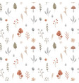 beautiful seamless pattern with cute hand drawn vector image