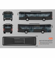 black bus template vector image vector image