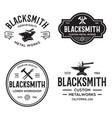 blacksmith labels set design elements for vector image vector image