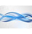 Bright blue grunge waves design vector image vector image