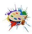 Bright Palette with brush vector image
