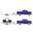 Car pickup with trailer 02