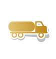 car transports sign golden gradient icon vector image vector image