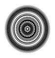Circular lace pattern black and white vector image vector image