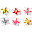 colorful gift box set realistic product vector image vector image