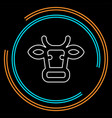 cow animal silhouette beef farm meat vector image
