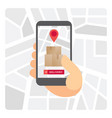 delivery tracking application vector image vector image