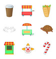 domesticate animal icons set cartoon style vector image vector image
