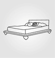 Drawing of bedroom furniture vector image