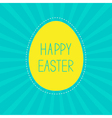 Easter yellow egg Sunburst background Card vector image vector image