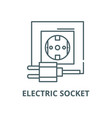 electric socket line icon linear concept vector image vector image