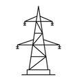 electrical power station icon outline style vector image vector image