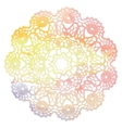 Elegant lacy watercolor doily Crochet mandala vector image
