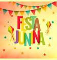 festa junina celebration party background vector image