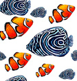 Fish Pattern2 vector image vector image