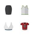 flat icon garment set of stylish apparel vector image vector image