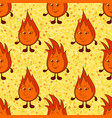 funny flames seamless vector image