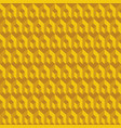 geometric seamless pattern yellow 3d cubes vector image