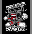 graffiti boombox vector image vector image