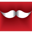 Greeting card mustaches Santa Claus vector image vector image