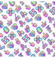 hands gestures seamless pattern vector image