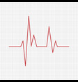 heartbeat - icon heartbeat line heartbeat icon vector image