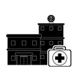 hospital and first aid kit icon vector image