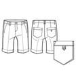knee length shorts vector image vector image